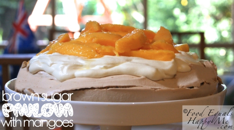 Brown Sugar Pavlova with Mangoes