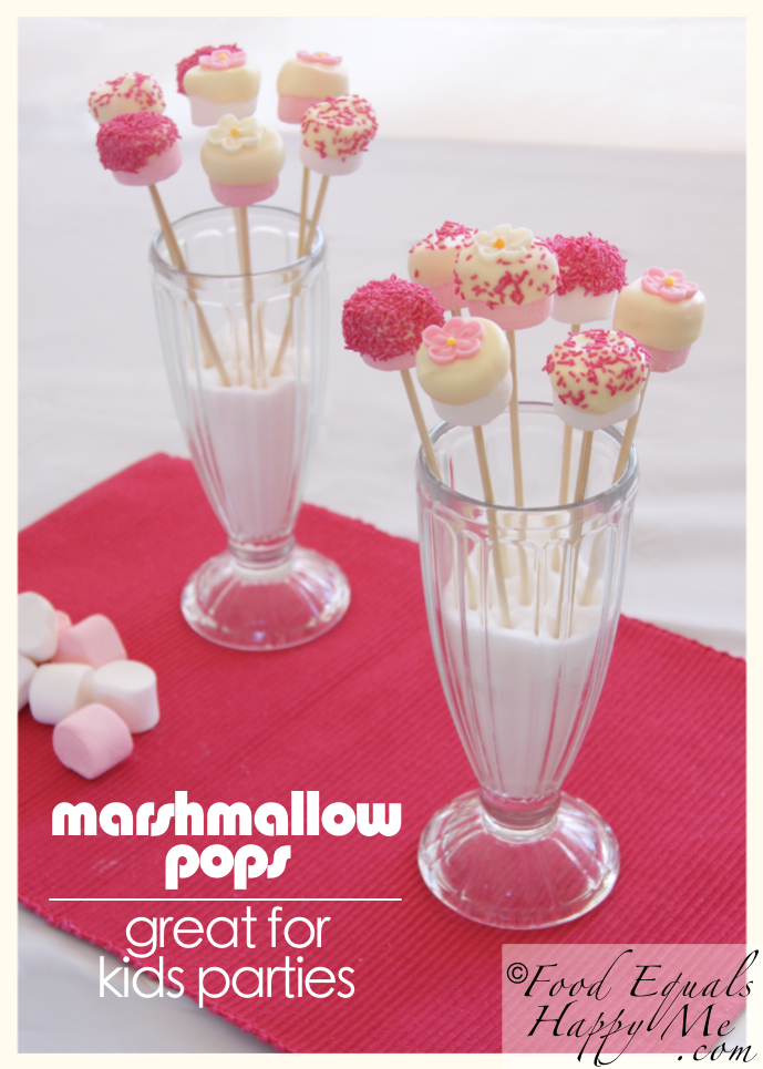 Marshmallow pops food equals happy me