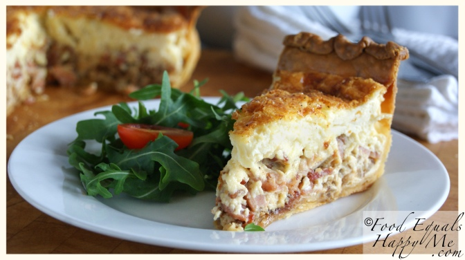 bacon and caramelised onion quiche