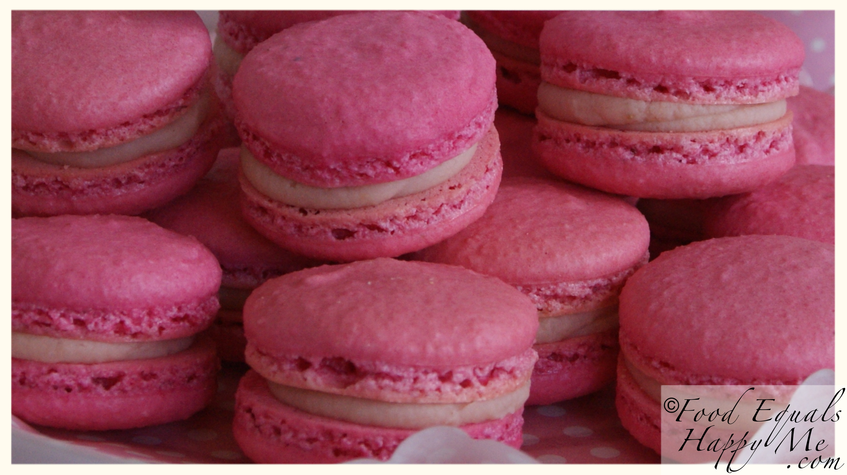 Strawberry Macarons | Food Equals Happy Me