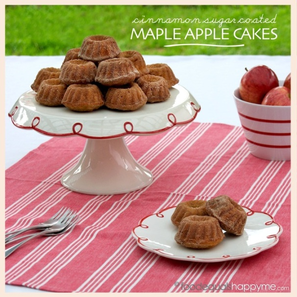 cinnamon sugar maple apple cakes