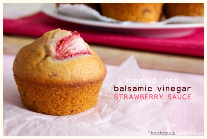 Balsamic Strawberry Muffins
