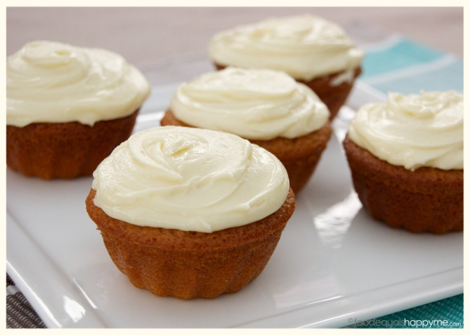 Honey Cakes with Honey Cream Cheese Frosting