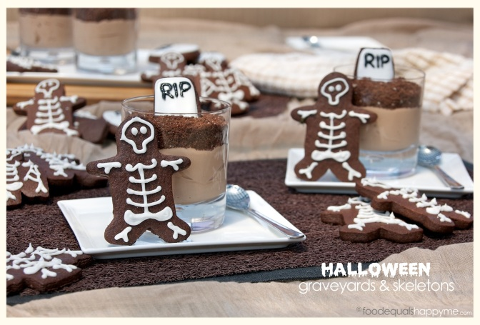 Chocolate Halloween Graveyards and Skeletons