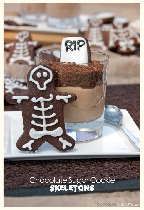 Chocolate Sugar Cookie Skeletons