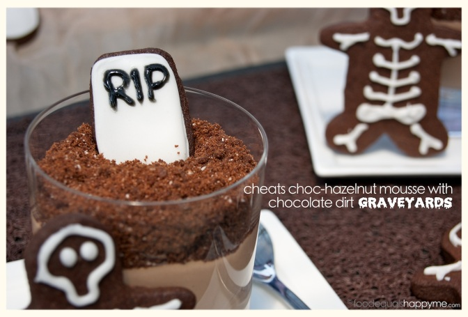 Graveyards with Choc-Hazelnut Mousse & Chocolate Dirt