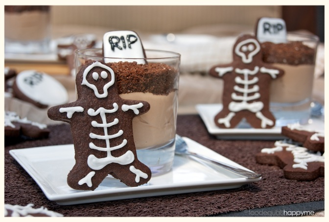 Halloween Skeleton Chocolate Sugar Cookies
