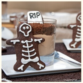Halloween chocolate graveyards & skeletons