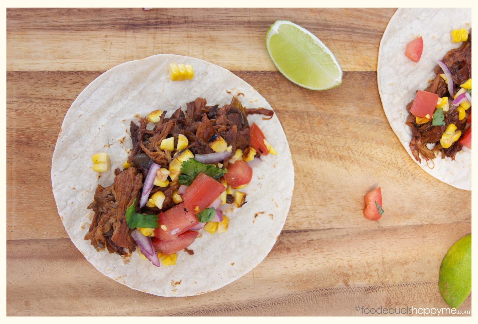 Pulled Pork Tacos with Salsa | Food Equals Happy Me
