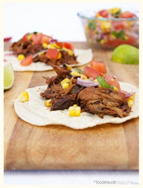 Pulled Pork Tacos with Salsa