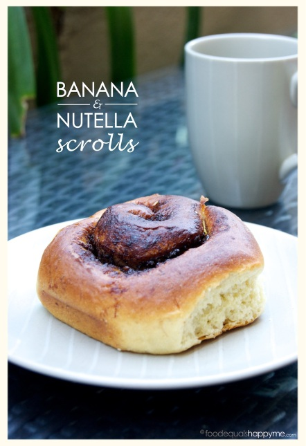 Banana and Nutella Scrolls