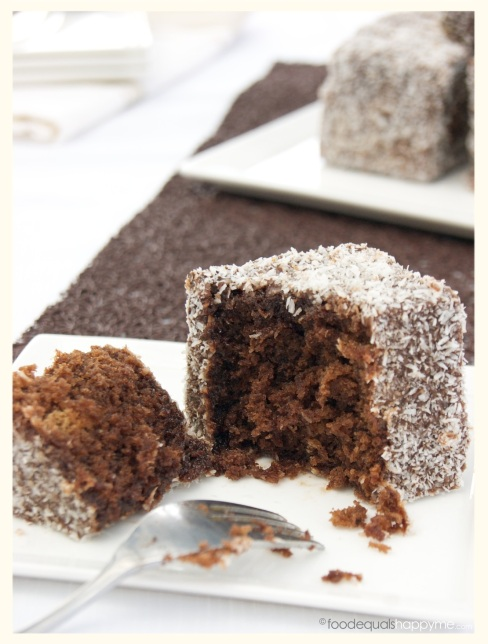 Mocha Chocolate Lamingtons