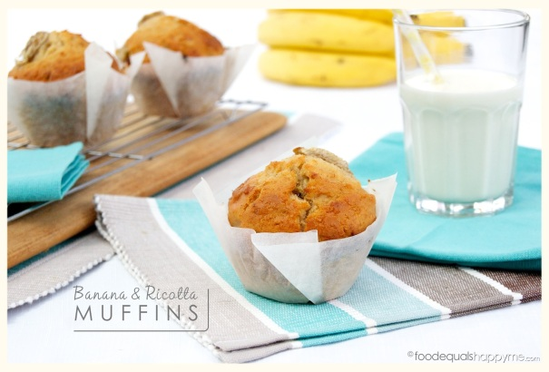 Banana and RIcotta Muffins