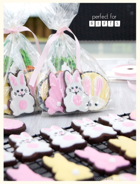 Easter decorated chocolate sugar cookies
