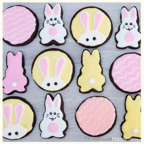 Easter chocolate sugar cookies