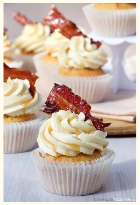Maple Bacon Whisky Cupcakes