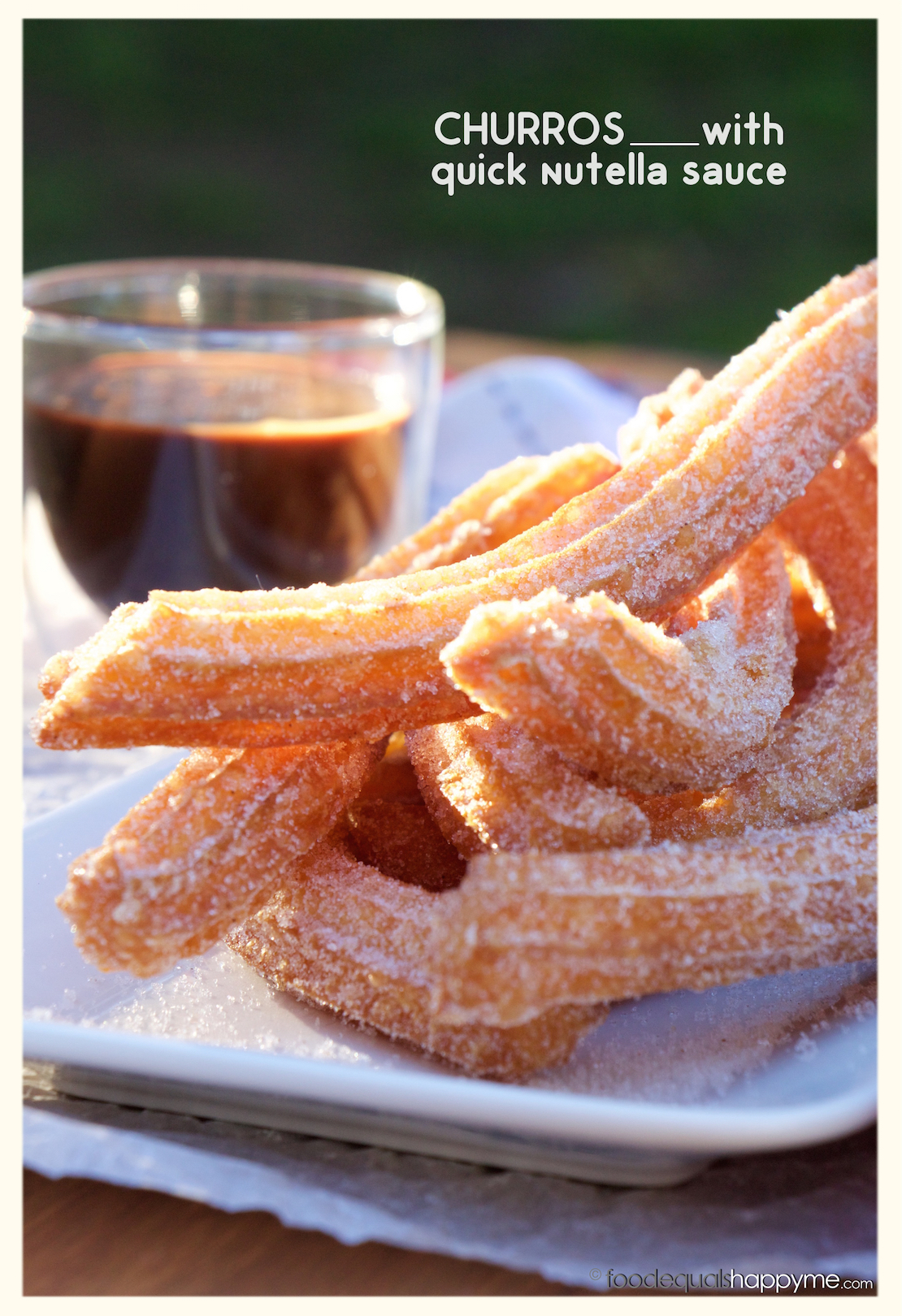Churros with Quick Nutella Sauce | Food Equals Happy Me