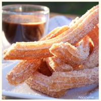 Churros with Quick Nutella Sauce