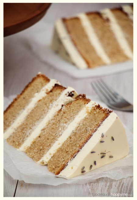 Earl Grey Tea Cake with Lavender Swiss Meringue Buttercream