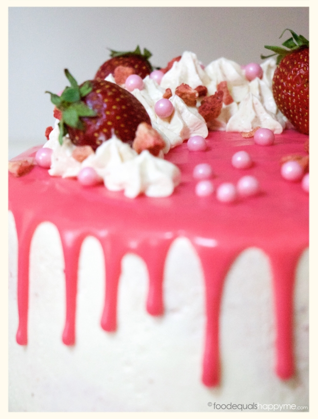 Strawberry & Vanilla Layer Cake