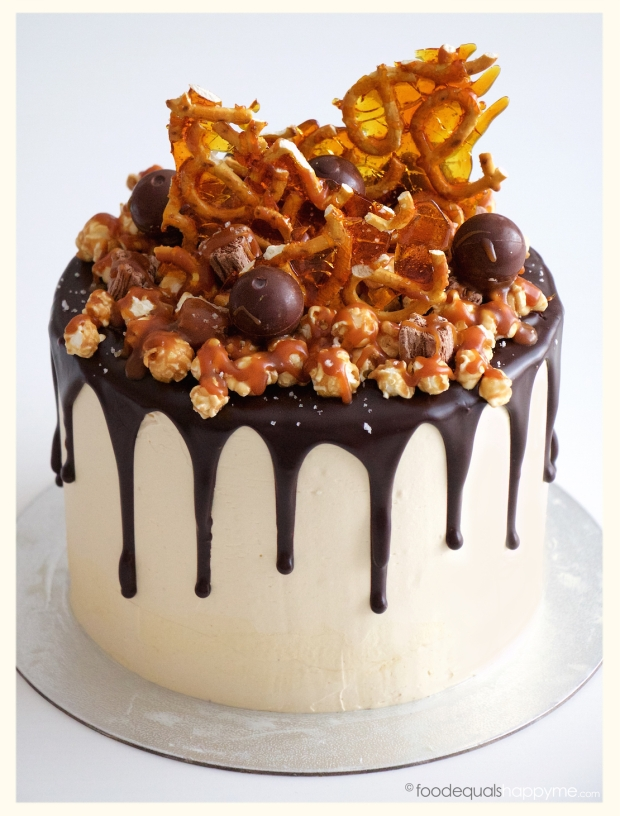 Chocolate Caramel Popcorn Cake Recipe